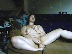 Chubby girl warms up with a dildo and gets fucked by her bf tube porn video
