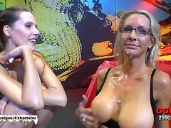 American MILF Emma Starr first German bukkake tube porn video