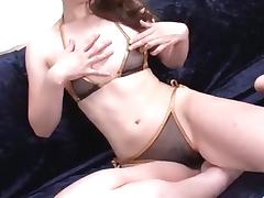 Jyunko Hayama amazing shaved pussy solo play porn tube video
