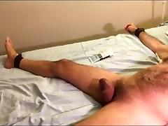 Intensive ball busting in restraints porn tube video