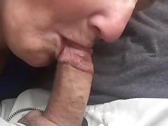 Granny bj & swallow in car porn tube video