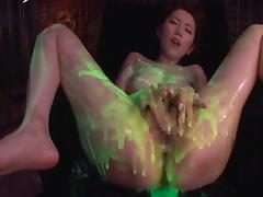 Oiled up Japanese sex compilation with a cute chick