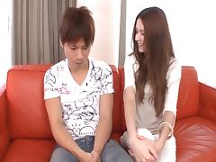Finger fucked Japanese cunt is juicy for cock riding porn tube video