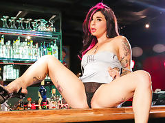 Joanna Angel & Bill Bailey in Bar Stripper Scene porn tube video
