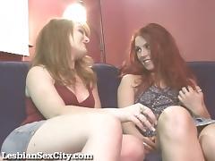 Hot Redhead Lesbians Make Each Other Cum! porn tube video