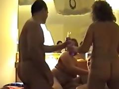 4some, Blowjob, Foursome, Group, Mature, Old
