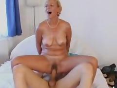 Granny Gets Fucked and Worships Cock tube porn video