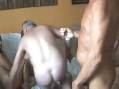 5 old russians sharing 1 whore porn tube video