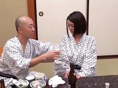 Hairy Japanese woman is used like a slut at the spa