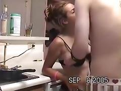 Stepboy and stepgirl are fuckbuddies and do it on the kitchen sink