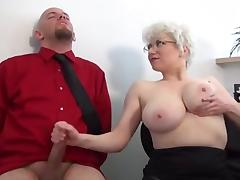 Mature Fetish, Big Tits, Boobs, Couple, Femdom, Handjob