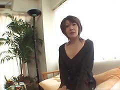 A little wine leads to a Japanese MILF getting pounded