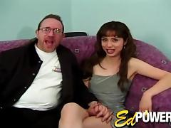 Anal sex with an amateur bitch who appears in her first porn video
