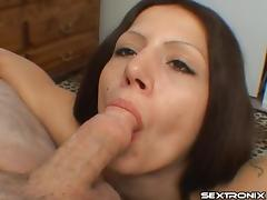 Capri gets a good throat fucking and swallows his hot load porn tube video