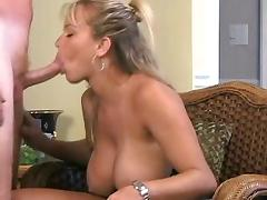 Amber Lynn Bach  gives a great blowjob