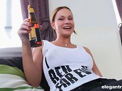 BBC pushes up into the asshole of this big breasted white girl