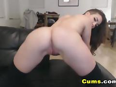 College Babe Strips and Masturbates porn tube video