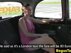 Euro amateur fucked hard on backseat of taxi tube porn video