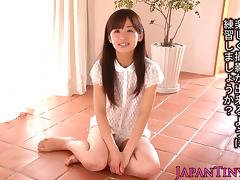 Tiny squirting asian Rimu Sasahara facialized