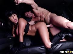 hungry for cock bitch gets fucked in car