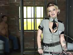 Mistress Candy Monroe takes advantage of a guy in jail