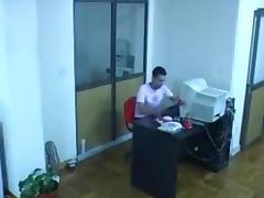 Caught, Caught, Couple, Fucking, Office, Voyeur