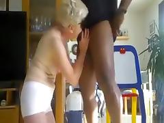 Hubby tapes his cuckold wife having a threesome with 2 black guys