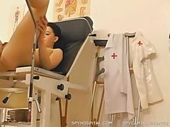 Tiny teen leaked pussy check-up hidden cam video