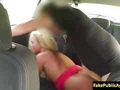 Pulled amateur euro doggystyled in the car