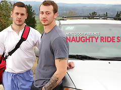 Mark Long & Brenner Bolton in Naughty Ride Share XXX Video