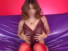 Busty, Yuki Touma, plays with cock in nasty ways