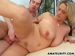 Busty amateur mom sucks and fucks with facial tube porn video