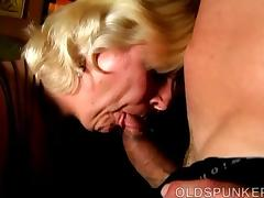 Granny BBW, BBW, Blonde, Chubby, Chunky, Facial