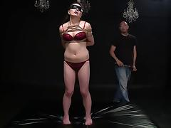 Erotically rope bound Asian fucked by her master