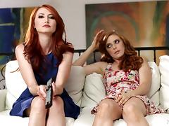Redhead sapphic MILF gets eaten out by a wonderful lesbian girl
