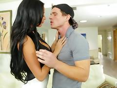 Hot milf pornstar Anissa Kate blows for a cumshot