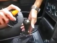Dildo, Car, Cowgirl, Dildo, Masturbation, Riding