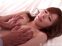 Asian milf get a hardcore missionary pounding pounding in pov