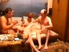 Russian redhead slut lost a bet and now has to have a threesome with these 2 tards porn tube video