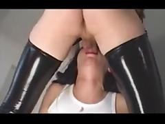 Dirty copulation between tranny and girl
