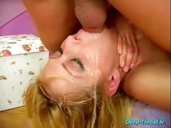 All, Babe, Big Cock, Blonde, Choking, Cumshot