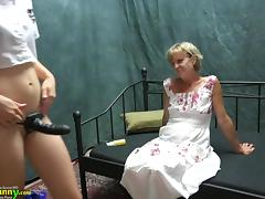 OldNanny Two lesbians girl is enjoying with toy tube porn video