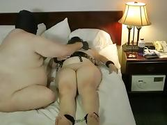 My lewd BBW wants her body shocked by an electrical device tube porn video