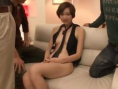 Akina Hara amazes with serious blowjob scenes