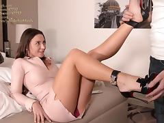 julie skyhigh best shoejob EVER in arched louboutin heels porn tube video