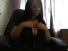 Stunning webcam solo with a curvy brunette milf masturbating