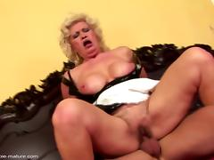 Mom and Boy, Creampie, Fucking, Granny, Mature, Old