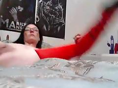 Using thick sex toy for anal sex