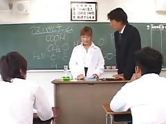 Naughty Asian teacher gets fucked hard in the classroom tube porn video