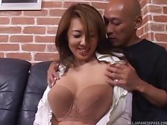 Amazing Asian mature babe gets hardcore rear fucking tube porn video